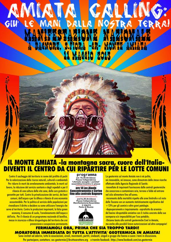 Manifesto di convocazione della manifestazione dell'11 maggio 2013