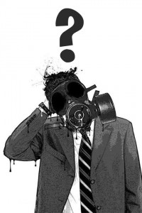gas mask punto interrogativo